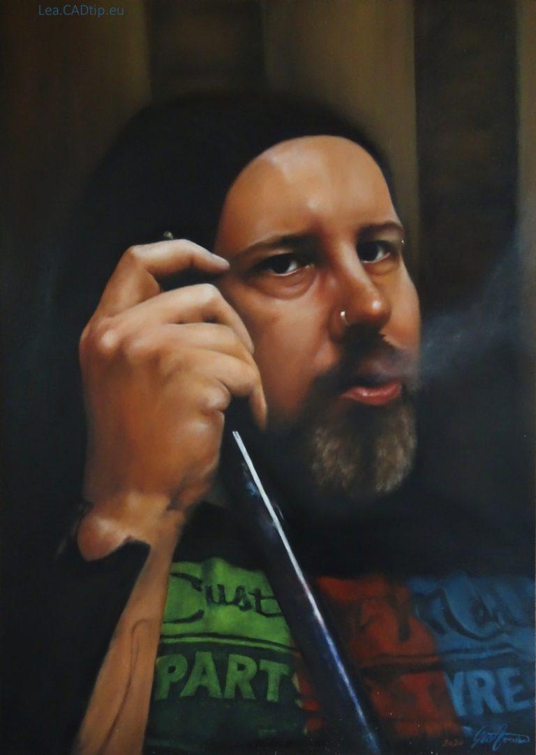 Kuřák vodní dýmky